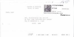 COMUNE DI PERCILE - 00020 PROV. ROMA - ANNO 2007 - PP - FTO 11x23 - TEMA TOPIC COMUNI D´ITALIA - STORIA POSTALE - Machine Stamps (ATM)
