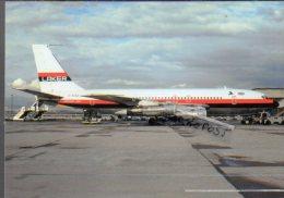 Boeing B 707 Aerei Aircraft B.707 Laker Airways Avion Aviation Aiplane B-707 Basle-Mulhouse Airport - 1946-....: Moderne