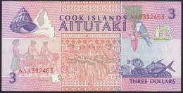 Cook Islands 3 Dollar 1992 P7 UNC - Cook Islands