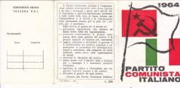 3-4235- Tessera P.C.I. Partito Comunista Italiano 1964 Nuova Da Assegnare - Organizzazioni
