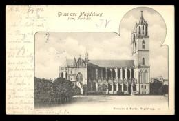 Gruss Aus Magdeburg, Dom Nordseite / Reinicke&Rubin / Year 1901 / Old Postcard Circulated - Magdeburg