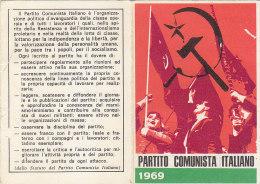 3-4237- Tessera P.C.I. Partito Comunista Italiano 1969 Con Bollini Da Lire 5000 + 500 - Organizzazioni