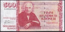 Iceland 500 Kronur 2001 P58 UNC - Islandia