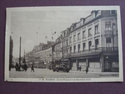 CPA 59 ROUBAIX Grand'Place Et Rue Maréchal Foch 1939 CAFE DE L'UNIVERSITE VOITURE ANIMATION Carte Sépia - Roubaix
