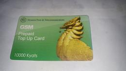 Myanmar- Birmanie Burma-elite Tech-5000kyats-gsm Prepiad Top Up Card-used Card+1prepiad Card Free - Myanmar
