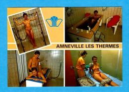 AMNEVILLE LES THERMES   -   ** 4 VUES DES SOINS PRODIGUES **  -   Editeur : PIERRON De Sarreguemines -  N° / - Autres Communes