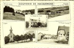 """CP De MACQUENOISE """" Souvenir De Macquenoise , Un Coin Paisible , Panorama , L'église , La Douane Française """" - Momignies"""