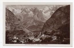 Cpsm Photo - Courmayer M. 1224 - Panorama (9x14 Cm) - Italie