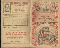 CATALOGUE . ARTHUR MAURY .  LE COLLECTIONNEUR DE TIMBRES - POSTE . N°  634 . 25 FEVRIER 1940 . - Variétés: 1931-40 Lettres & Documents