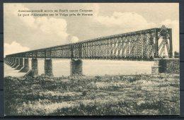 Russia Alexandra Bridge Volga River Postcard - Russia