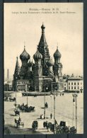 1914 Russia Moscou No 20 Moscow St Basil Red Square Postcard - Russia