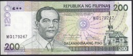 Philipphines 200 Piso 2010 P195c UNC - Filipinas
