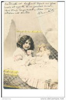 PETITE FILLE ET POUPEE CARTE FANTAISIE 1903 - Bambini