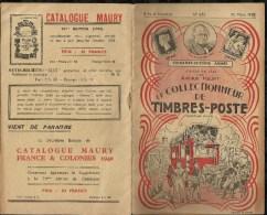 CATALOGUE . ARTHUR MAURY .  LE COLLECTIONNEUR DE TIMBRES - POSTE . N°  635 . 25 MARS 1940 . - Variétés: 1931-40 Lettres & Documents