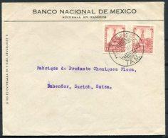 1925 Banco Nacional De Mexico Tampico Cover - Dubendor, Zurich, Switzerland - Mexico
