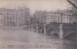 PARIS INONDATION  JANVIER 1910 GRANDE CRUE DE LA SEINE PONT DE LA TOURNELLE - Paris Flood, 1910