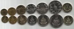 Vanuatu 1999-2009. Complete Set Of 7 Coins UNC - Vanuatu