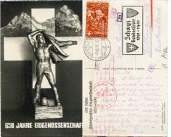 Y393 AK 650 Jahre Eidgenossenschaft 1941 N. Dillingen Mit Zensur - Unclassified
