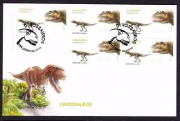 PORTUGAL 2015. ATM FDC DINOSAURS Ceratosaurus, - ATM/Frama Labels
