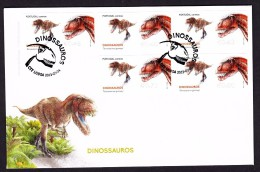 PORTUGAL 2015. ATM FDC . DINOSAURS Torvosaurus - ATM/Frama Labels