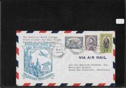 SIAM 1947-FFC Bangkok To San Francisco (backstamped Cover) (Ref 937) - Siam