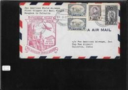 SIAM 1947-FFC Bangkok To Calcutta (backstamped Cover) (Ref 937 ) - Siam