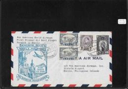 SIAM 1947-FFC Bangkok To Manila, Philippine (backstamped Cover)(Ref A59) - Siam