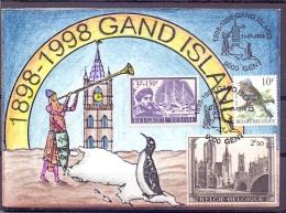 België - 1898-1998 Gand Island - Gent 14/4/1998  (RM9222) - Antarctic Wildlife