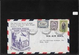 SIAM 1947-FFC Bangkok To Guam (backstamped Cover) (Ref A59) - Siam