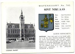 Wapenkaart Nr 743 Sint Niklaas - Kasteel WalburgStadhuis - Belfort - Sint-Niklaas