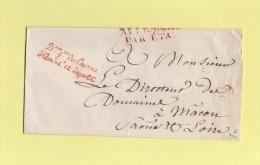 Franchise - Direction Generale Des Caisses D'amortissement Et Depots - Sans Correspondance - Marcophilie (Lettres)