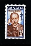 CANADA - 1969  SIR WILLIAM OSLER  MINT NH - 1952-.... Regno Di Elizabeth II
