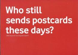 Boomerang Kaart - Vodafone. Who Still Sends Postcards These Days? - Humor