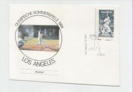 SonderumschlagOlympische Spiele Los Angeles 1984 Baseball Mit Stempel Baseballstadium - Summer 1984: Los Angeles