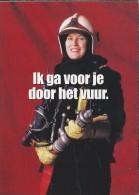 Boomerang Kaart - Brandweer. Brandweercollega's. Ik Ga Voor Je Door Het Vuur. - Humor