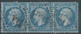 Lot N°29071   Bande De Trois  N°22, Oblit GC 4034 TROYES (9) - 1862 Napoleone III
