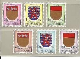 Lux Mi.nr.612-17/   LUXEMBURG - Kantonal-Wappen 1959 **  MNH - Luxemburg