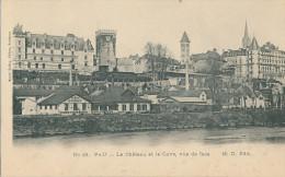 Pau. Le Château Et Le Gave, Vue De Face - Pau
