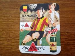 Sous Bock Bière Apollinaris Club De Foot Belge: KV Mechelen - Sous-bocks