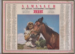 Almanach Des Postes. ( Calendriers )1951 - Grand Format : 1941-60