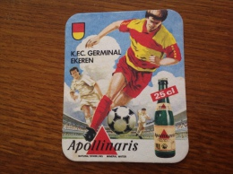 Sous Bock Bière Apollinaris Club De Foot Belge: KFC Germinal Ekeren - Sous-bocks