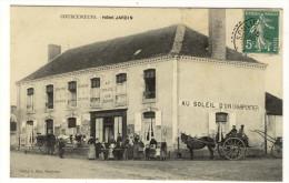 72 - COURCEBOEUFS - Devanture Hotel Jardin Belle Animation Attelage Bon Etat - France