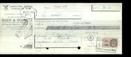 3211-LCD-11548  Articles De Peche Baer & Schmitz à Paris 11éme M.deguillaume La Souterraine 03-08-1937 - Lettres De Change