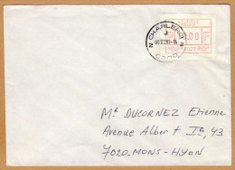 Enveloppe Cover Brief Vignette Charleroi à Mons Hyon - Postage Labels