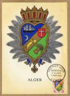 Carte Premier Jour Alger Armoiries - France