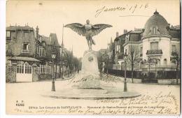 CPA Les COTEAUX DE SAINT-CLOUD- Monument De SANTOS-DUMONT Et L´Avenue De Longchamp - RECTO VERSO - Aviateurs
