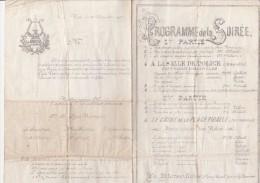 PROGRAMME DE LA LYRE VIONNAISE DE 1907 - Programs