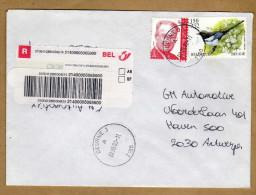 Enveloppe Cover Brief Aangetekend Registered Recommandé Deurne 3 - Belgique