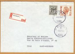 Enveloppe Cover Brief Aangetekend Registered Recommandé Namur 1 - Belgien