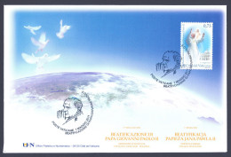"""2011 VATICANO """"BEATIFICAZIONE PAPA GIOVANNI PAOLO II""""  FDC MANIFESTAZIONE UFN - FDC"""